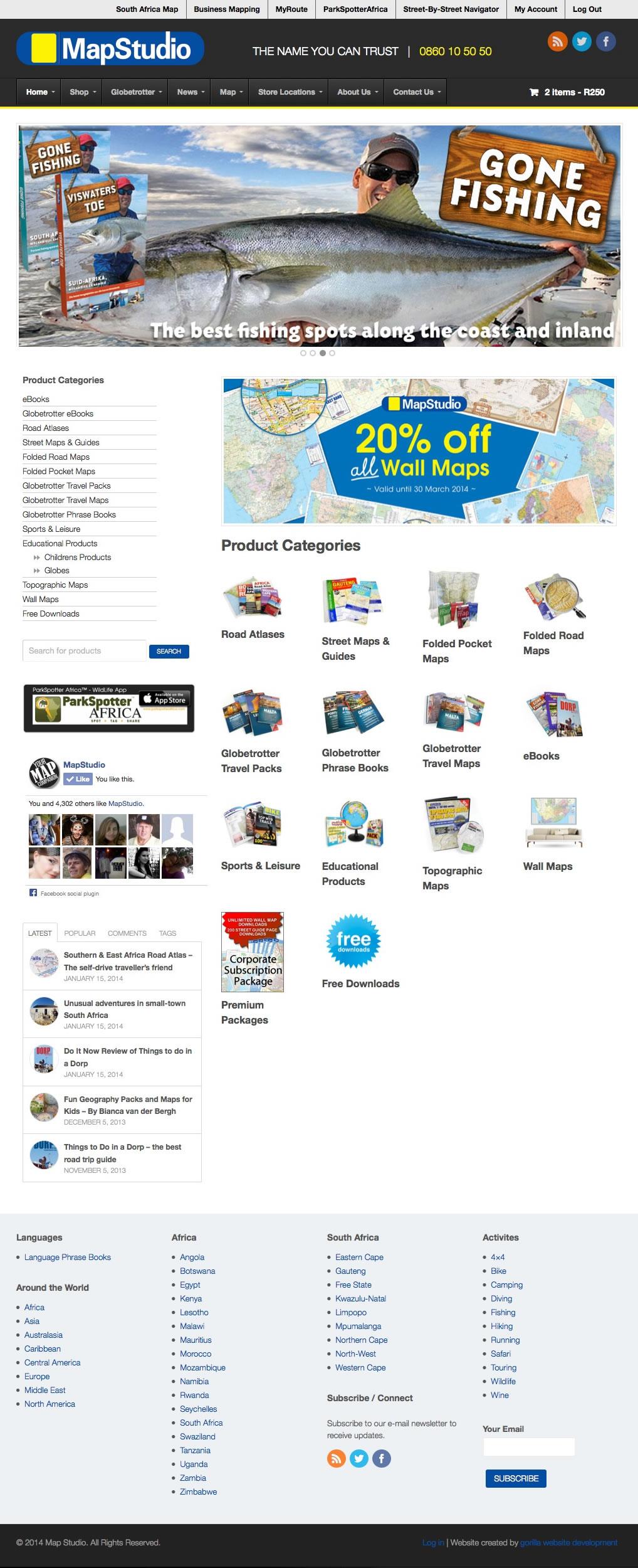 Mapstudio website screenshot