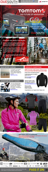 Duesouth September 2010 Newsletter