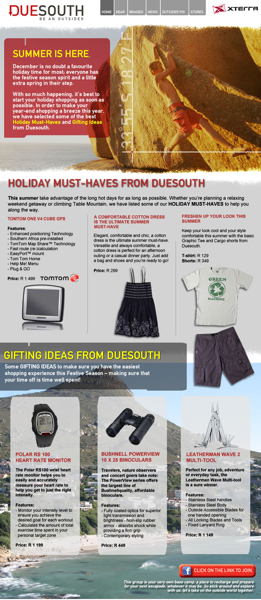 Duesouth December 2009 Newsletter