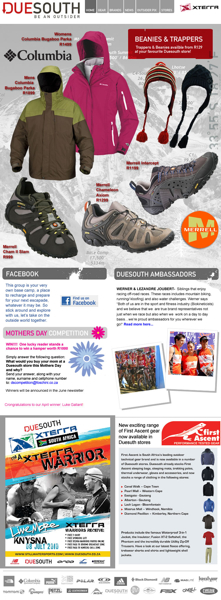 Duesoutb May 2010 Newsletter
